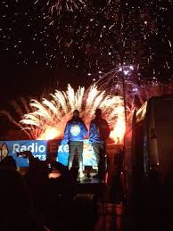 radio exe s ashley jeary and chris dinnis hosted this years round table charity fireworks display at