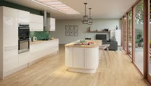Cream Gloss Kitchen Studio Cream Kitchen Style Kitchens Magnet Trade