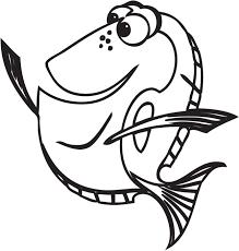 Libro Da Colorare Ricerca Di Nemo Linea Di Disegno Di Arte Dory