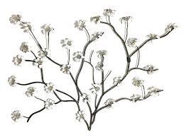 fl metal wall decor white flowers