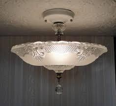 vintage 30s art deco glass ceiling