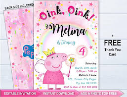 Peppa Pig Invitation Peppa Pig Party Editable Invitation Instant Download Peppa Pig Birthday Invitation Digital File Peppa Pig Invite Peppa Pig