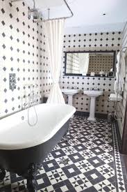 White bathroom tiles Vintage Tile Giant Black And White Bathrooms Design Ideas