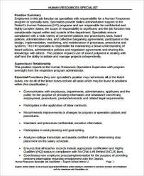 Personnel Specialist Job Description Hr Payroll Job Description Sample 9 Examples In Word Pdf