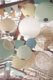 156 best paper lanterns images on pinterest paper lanterns, boho Wedding Lanterns Adelaide i like the mix of colors textures of these paper lantern decorations via katie and alexs relaxed waterside wedding Outdoor Wedding Lanterns