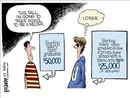 sometimes your students need to hear the hard truth about careers think a college is better than trade school
