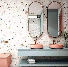 Feito a partir da mistura de massa de cimento com pedriscos, o revestimento é finalizado com polimento, que deixa a superfície lisa, e aplicação de resina, que dá brilho e protege. Granilite O Que E Como E Feito E 50 Ideias Para Decorar Sua Casa