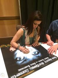 Scream Neve Campbell Matthew Lillard Skeet Ulrich Autographed Movie Poster  COA