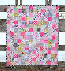 Sew Fresh Quilts: Pretty in Pink patchwork baby quilt & Some sweet and simple patchwork piecing. That's what I needed this week.  The results were this little pink baby quilt.... And a great reduction in  my stress ... Adamdwight.com