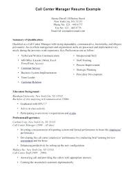 sample objectives in resume for call center agent cover letter resume  samples for call center job