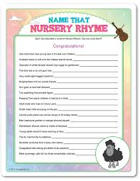 Baby Shower Nursery Rhyme Game Part  33 Like This Item  Home Baby Shower Games Nursery Rhymes