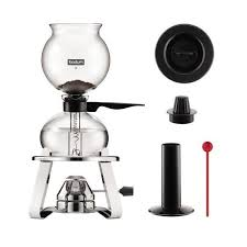 A vacuum coffee maker is a device that makes coffee using 2 chambers where vacuum and vapor what special about vacuum or siphon coffee maker. Bodum Pebo Vacuum Coffee Maker