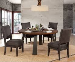 tolstoy espresso flared leg round dining table complete set
