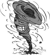 personification tornado