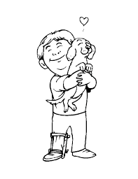 Coloring Pages 2 Dog And Boy