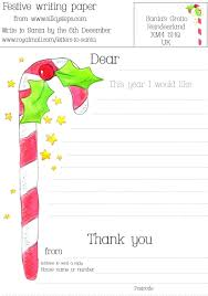Christmas Writing Paper Template Free Christmas Writing Paper Candy Cane Letter To Free Writing Paper