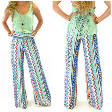Pattern Pants Custom Pants Palazzo Pants Yoga Wide Leg Tribal Pattern Spring