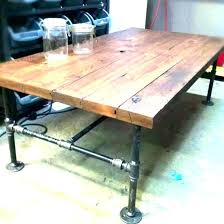 coffee table pipe legs wood coffee table with pipe legs coffee table with pipe legs reclaimed