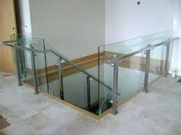 banister railing glass stair railings railing cost