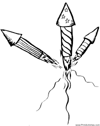 Small Picture Fireworks Coloring Page Launched fireworks