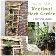 how to make a vertical herb garden by two purple couches gardening urbangardening