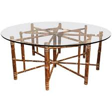 mcguire octagon bamboo dining table with round top at 1stdibs in octagonal kitchen tables plan 19