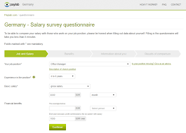 germany salary survey questionnaire paylab com