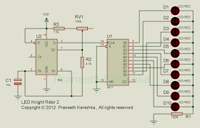 Knight Rider Running Light Scorpionz Electronic Circuits And Microcontroller Projects