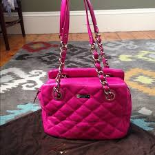 kate spade - Kate Spade hot pink quilted leather bag! from Lauren ... & Kate Spade hot pink quilted leather bag! Adamdwight.com