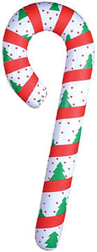 New Festive Inflatable Candy Cane Christmas Decoration