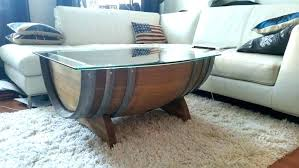 whiskey barrel table diy whiskey barrel coffee e i made wine al on glass top image of