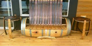 wine barrel furniture plans. large wine barrel bench furniture plans t