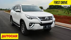 Toyota Fortuner | First Drive | Autocar India - YouTube
