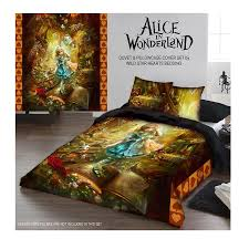 com wild star alice in wonderland duvet and pillowcase cover set twin 200cm x 200cm home kitchen