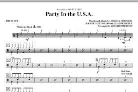 drum set sheet music party in the usa drum set sheet music direct