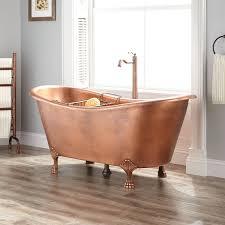 josette hammered copper double slipper clawfoot tub bathroom
