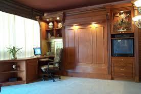 murphy bed office desk. Maple Wood Corner Desk With Moldings - Platform Style Murphy Bed Office E