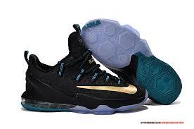 lebron james shoes 13 gold. lebron james shoes custom sneakers | nike lebron 13 low black gold blue w