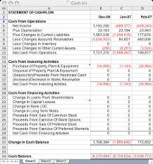 cash statements statement of cash flow