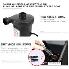 Wo <b>Smart</b> Quick-Fill AC <b>Electric Air Pump Inflator</b> for Airbed ...