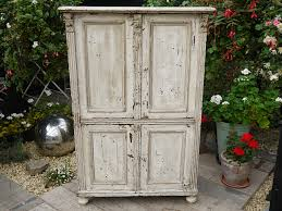 victorian old painted pine cupboard linen food kitchen larder shabby chic