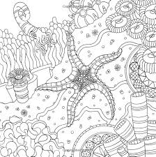 Starfish Ocean Underwater Sea Coloring Pages Coloriage Marin Images