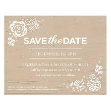 Winter Wonderland Plantable Save The Date Card Plantable Seed Save