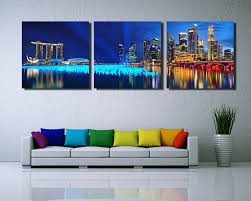 3 panel singapore night scene hd wall art picturetop rated canvas print painting for living room decoration picture unframed in painting calligraphy from