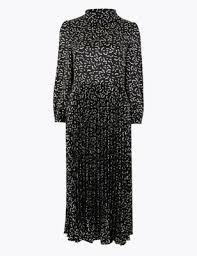 <b>Satin</b> Printed <b>Waisted</b> Midi <b>Dress</b> | M&S Collection | M&S