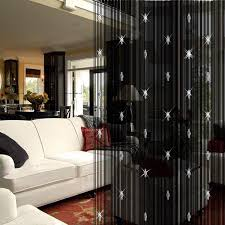 elegant string curtain with 3 beads tassels door window panel room divider curtain for living room in curtains from home garden on aliexpress com
