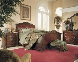 Sleigh Bedroom Furniture American Drew Bob Mackie Home Sleigh Bed 661 305r At Homelementcom