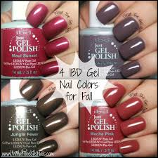 Ibd Just Gel Colour Chart Ibd Gel Nail Colors For Fall