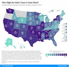 Louisiana Tax Chart State And Local Sales Tax Rates 2019 State Sales Tax 2019