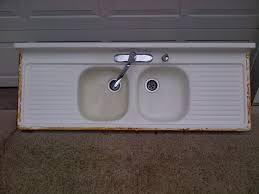 39 cast iron drainboard sink vintage 1930s rare green farmhouse